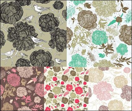 Material de fondo de color de moda. El vector de flores
