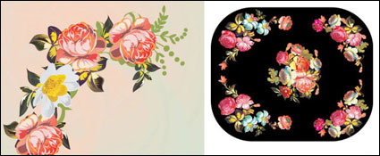 Vecteur de grains de corne de matériel de bord de fleurs