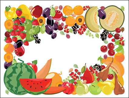 Vector de frontera de frutas 2
