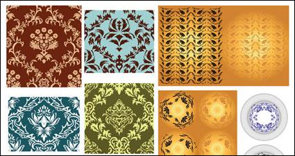Variedad de material de vectores de patrón clásico