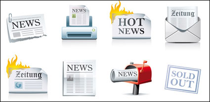 Periódico icono material de vectores