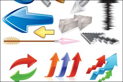 Flecha tridimensional de vectores