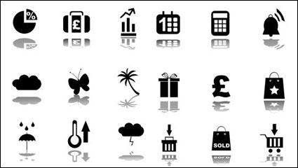 Matériau de vecteur concise icône noir