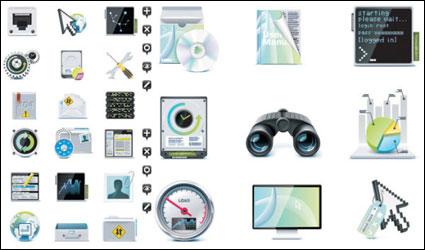 Matériau vecteur de serveur thème icône