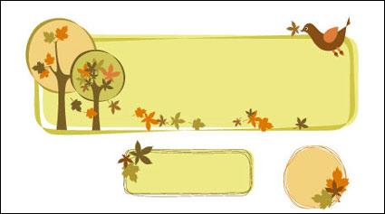 Cuadro de decoración de tema de árbol de vector