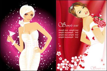 Moda mujer vector material