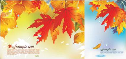 秋のベクトルの背景