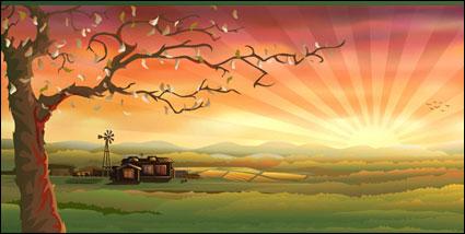 ベクトルの田舎の風景