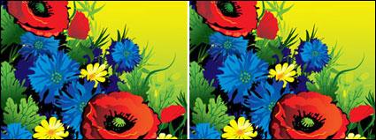 豪華な花のベクトル材料
