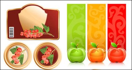 Fruits et graphiques vectoriels