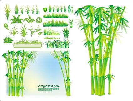 ベクトルの竹の草のプラント