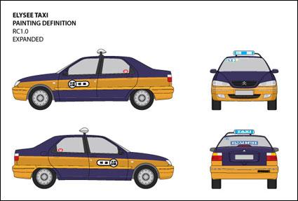 มุมมองต้นฉบับแบบเวกเตอร์ Jetta IV แท็กซี่