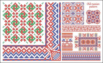 Patrón de estilo de frontera vector-píxel