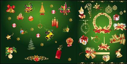 Vector de oro elementos decorativos de Navidad