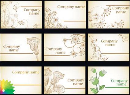 Flores de moda simple tarjeta de material de vectores de plantilla