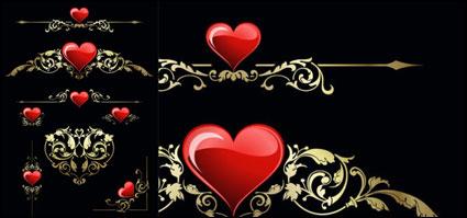 Coeur et patron de vecteur