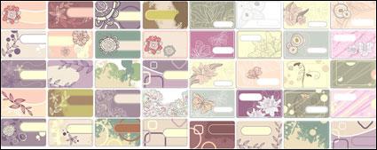 Цветочная тема чертежей карта вектор