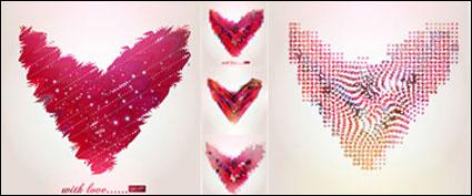 ลวดลายรูปหัวใจนามธรรมเวกเตอร์วัสดุ