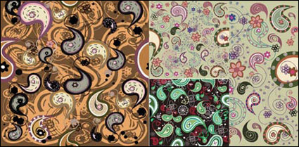 Material de vectores de patrón de jamón de India