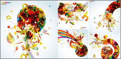 แนวโน้มของสีสันกราฟิก - เวกเตอร์