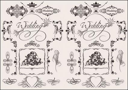 งานแต่งงานที่ยุโรปรูปแบบเวกเตอร์วัสดุ