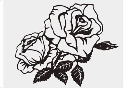 Rosa material de vector de patrón