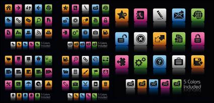 Iconos de web bello y práctico - material de vectores