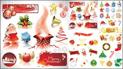 Vecteur d'éléments de décoration de Noël