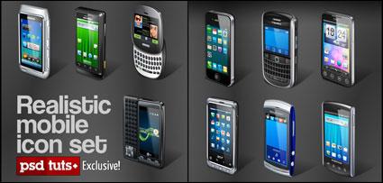 Icône de téléphone mobile 10 - vecteur