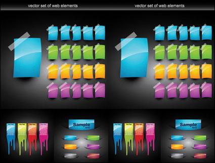 Vecteur de Web Design coloré d'éléments décoratifs