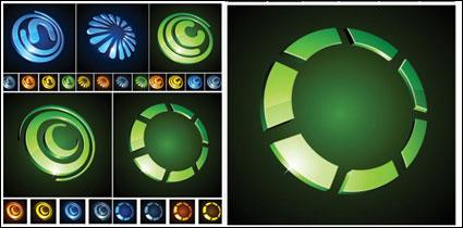 icônes graphiques vectoriels circulaire en trois dimensions