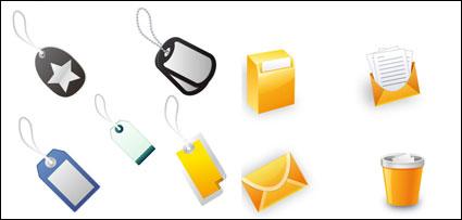 Les icônes de bureau et des étiquettes - vecteur