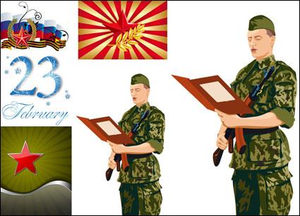 5 つ星との軍事 - ベクトル
