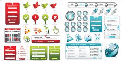 Des éléments de conception utilisée couramment Web vectorielles