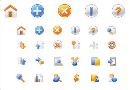 Icônes de web vecteur commun - matériel de vecteur