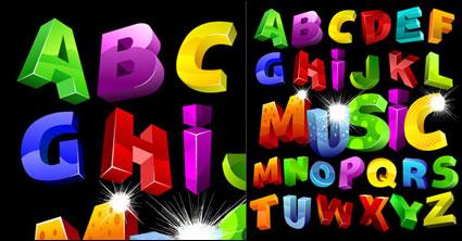 Bunte dreidimensionalen Vektor-alphabet