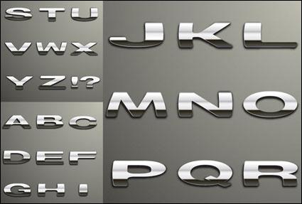 Vector de palabras de metal plateado