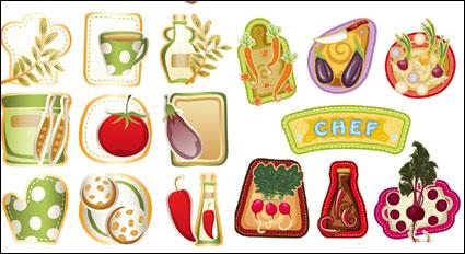 Verduras hermosos dibujos animados - Vector