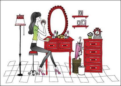 単純なベクトル描画女性
