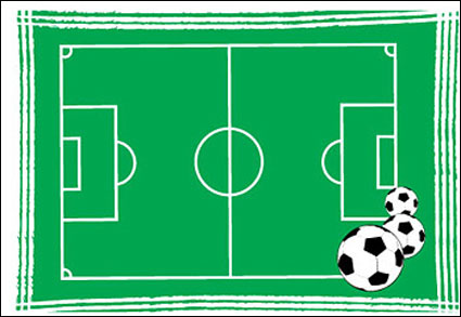 Plan de football de vecteur