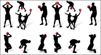 Silhouette de figurines de basket-ball