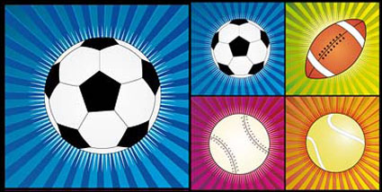 4 Мяча вектор