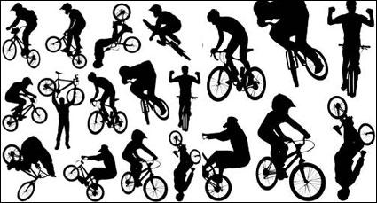 เวกเตอร์คน silhouette กีฬาของจักรยาน