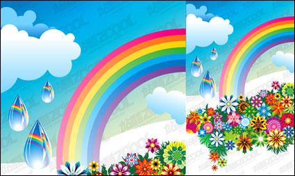 虹色鮮やかな花