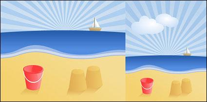 ベクトル夏ビーチ風景