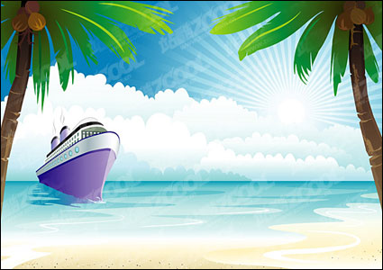 การล่องเรือบนเวกเตอร์มหาสมุทร