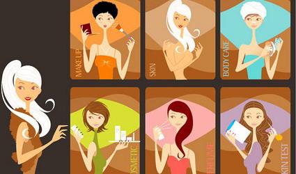 femmes de maquillage