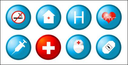 Matériau de vecteur icône médicales et de santé