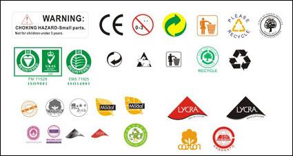 Logo de vecteur de composition textile