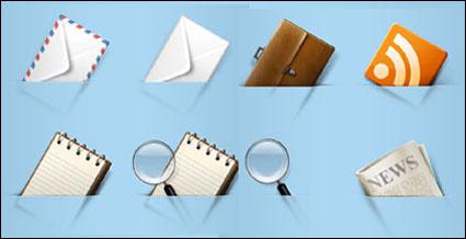 ซองจดหมายบิน แปรง เอกสาร หนังสือพิมพ์ ไอคอน png
